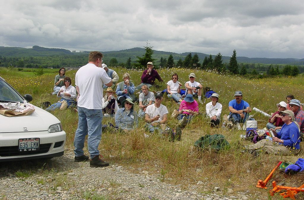 Lunch Crowd at Glacial Workday, June 14, 2003, photo by Dennis Plank