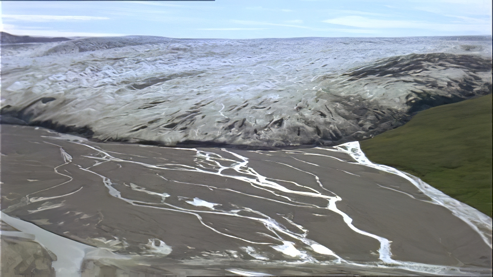 A recently formed outwash plain. (http://geologylearn.blogspot.com/2015/07/continental-glacier-deposition.html)